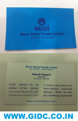 RACER VALVES PVT LTD - 9723453204