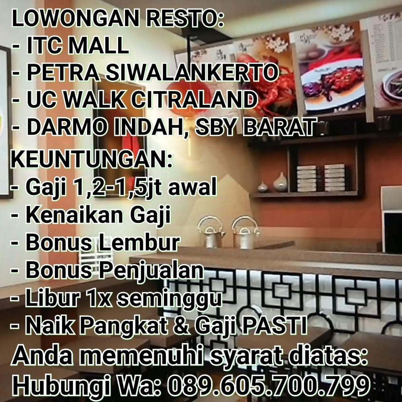 Karir Terbaru Di Restaurant Surabaya Juni 2018 Lowongan Kerja Surabaya Januari 2021 Lowongan Kerja Jawa Timur Terbaru