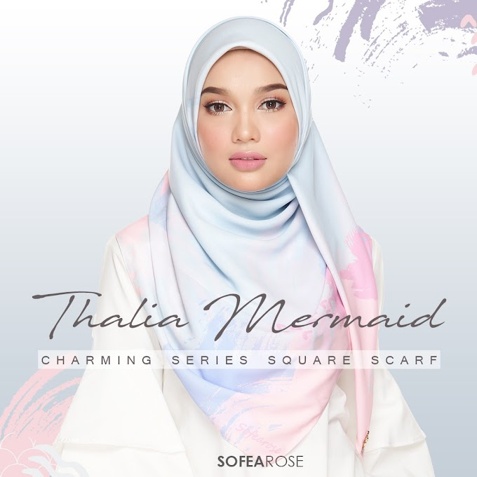 Thalia Mermaid Square Scarf Istimewa dari SofeaRose.
