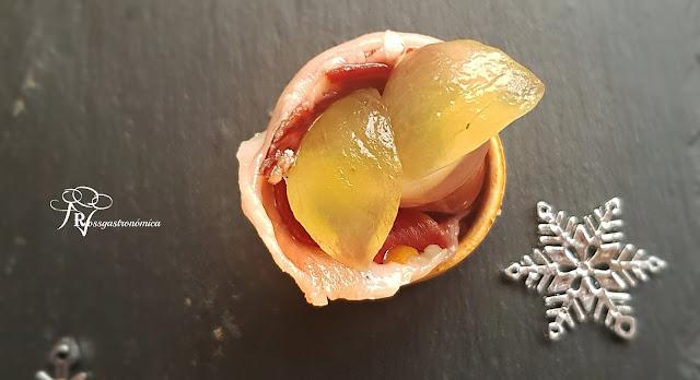 Bocadito Ibérico de Jijona con uvas