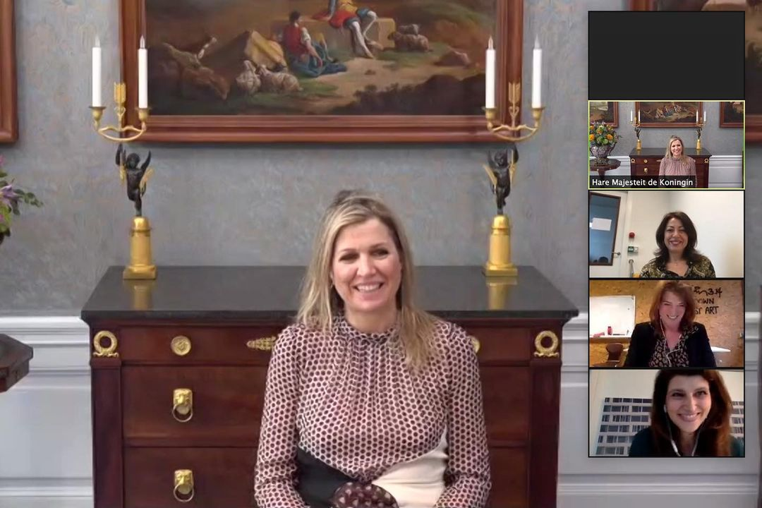 Queen Maxima gave a virtual opening speech on International Women's Day at the event 'Call to Action for Reaching Financial Equality'.