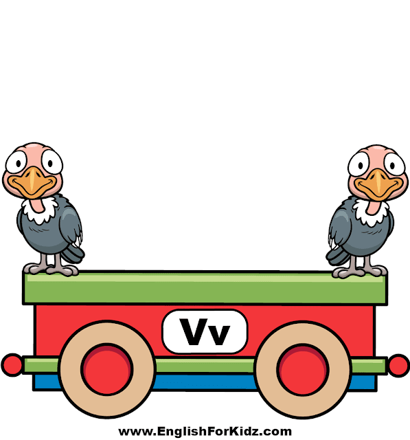 Letter V is for vulture - ABC train classroom decoration
