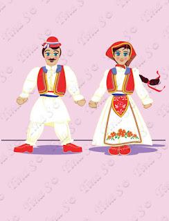 Traditional Croatian Dance dolls