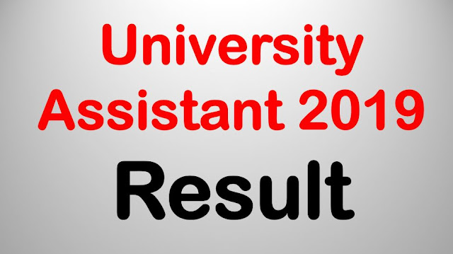 University Assistant 2019 - Result