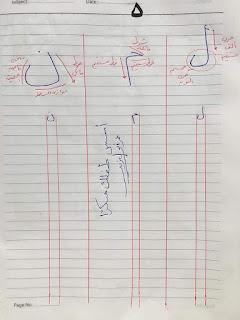 كيفية كتابة الحروف بطريقة صحيحة للأطفال وقواعد خط النسخ حرف لام و حرف ميم وحرف نون