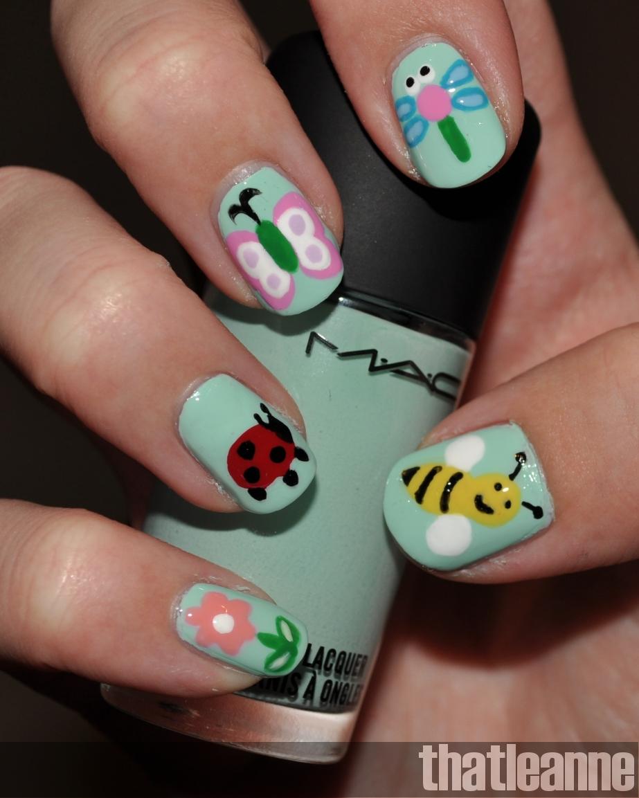 Girly Nail Art: Thatleanne: MAC Quite Cute Nail Polish Swatches And Garden
