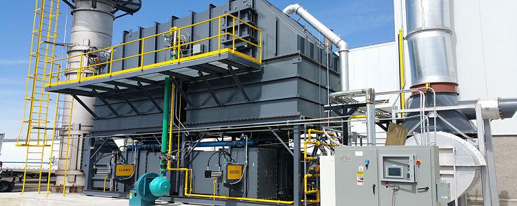 Oxidador térmico regenerativo en planta industrial
