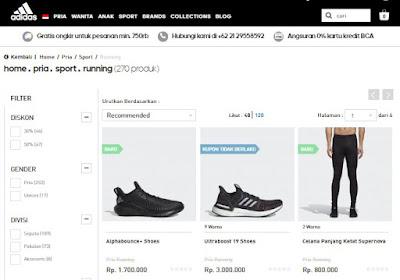 Perlengkapan Lari di Toko Online Adidas