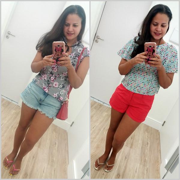 Looks das férias: Blusas com short e saia; Sandálias; Bolsa;