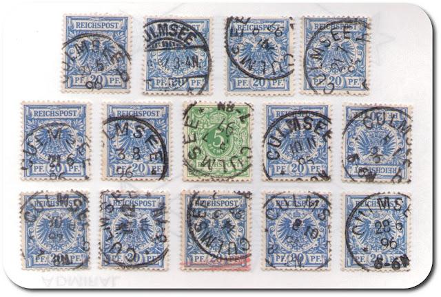 Culmsee-Stempel auf Briefmarken