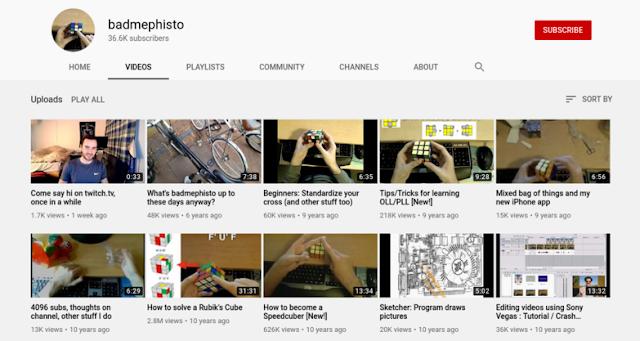 badmephisto youtube channel kanal tutorial rubik's cube speedcubing