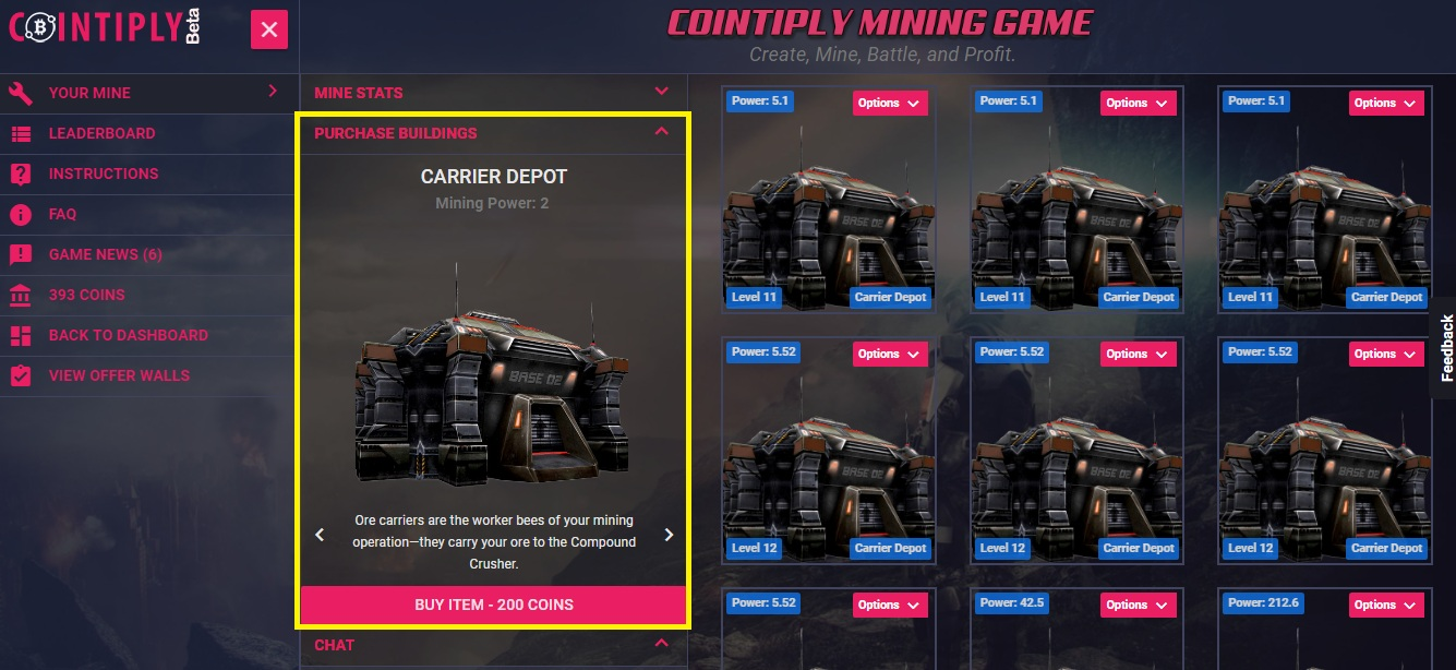 Cointiply Mining Game