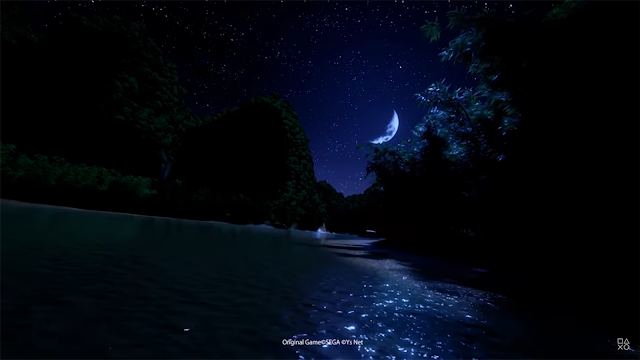 An area of river was shown briefly in The First Teaser but was not in the final release.