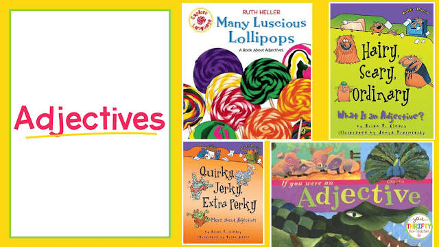 Here is a list of picture books to teach adjectives. Use these to introduce adjectives and engage your upper elementary students.