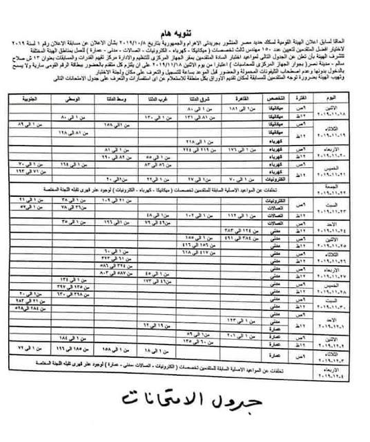 وظائف وتعيينات السكك الحديد المصرية س ح م ننشر لكم تفاصيل اماكن ومواعيد اختبارات المتقدمين لمسابقة السكة الحديد 2019  أماكن ومواعيد اختبارات المتقدمين فى مسابقة تعيينات السكة الحديد 2019