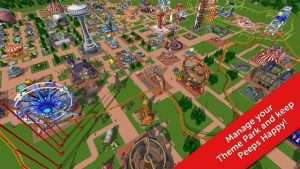 RollerCoaster Tycoon Touch Mod Apk Android Unlimited Money + Official Apk