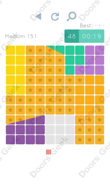 Cheats, Walkthrough for Blocks and Shapes Medium Level 151