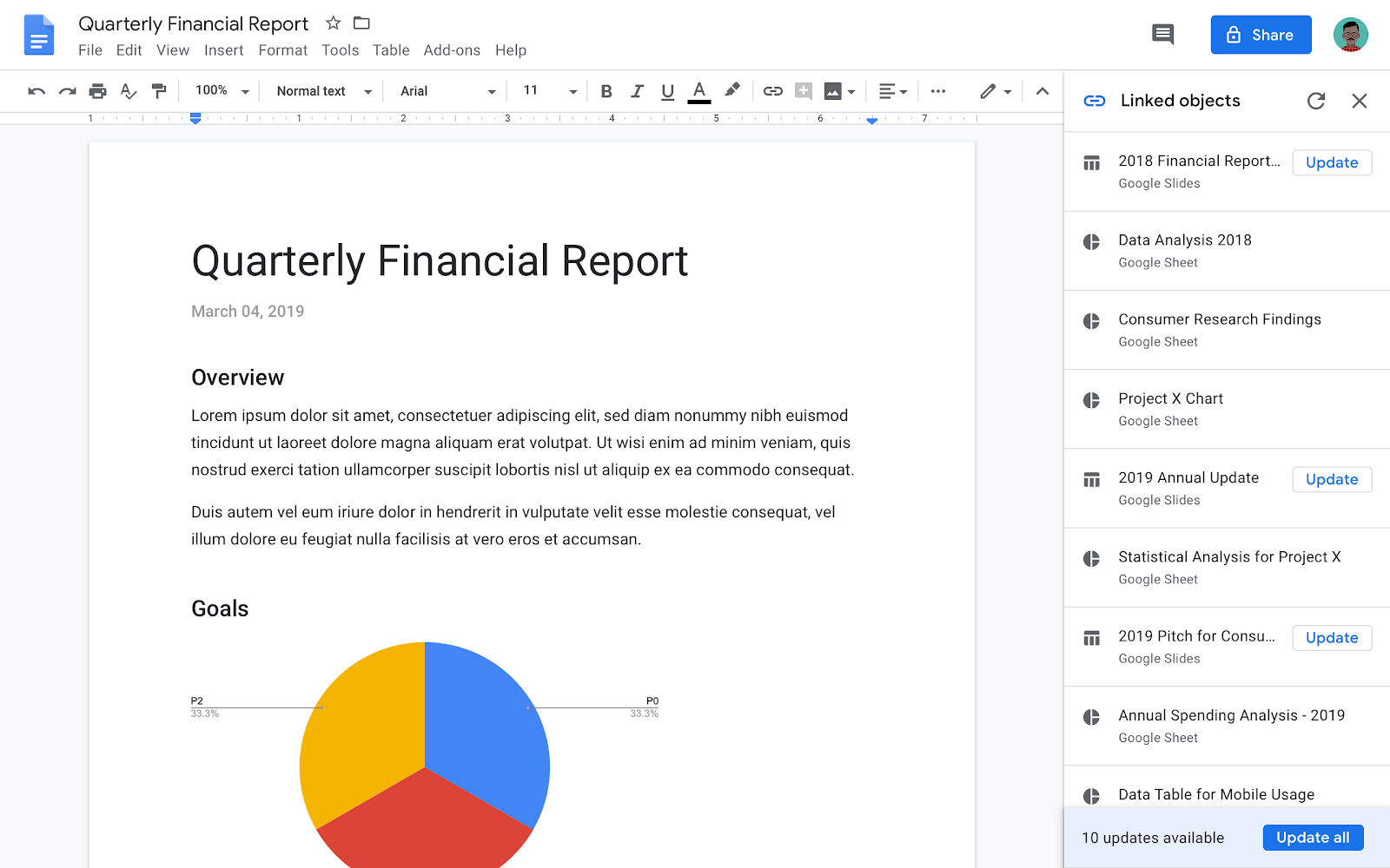 G Suite Updates Blog: Update all linked content with one