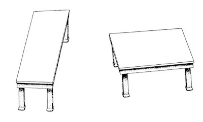 Tavolini, illusione ottica