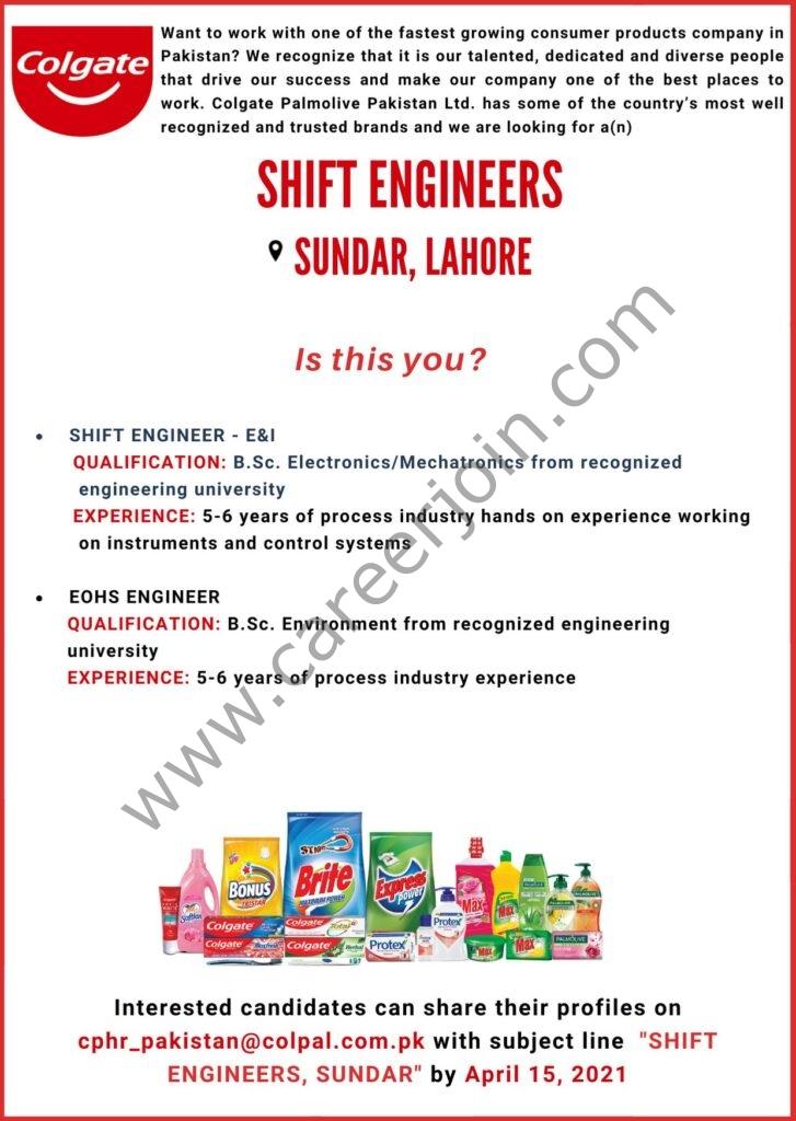 Colgate Palmolive Pakistan Jobs 2021 Shift Engineer - Colgate Job Vacancies - Apply Online