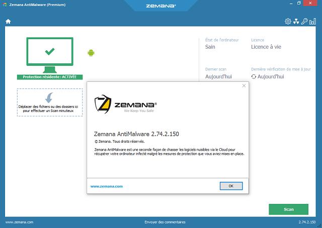 تحميل برنامج الحماية من برمجيات التجسس والبرامج الضارة Zemana AntiMalware آخر إصدار