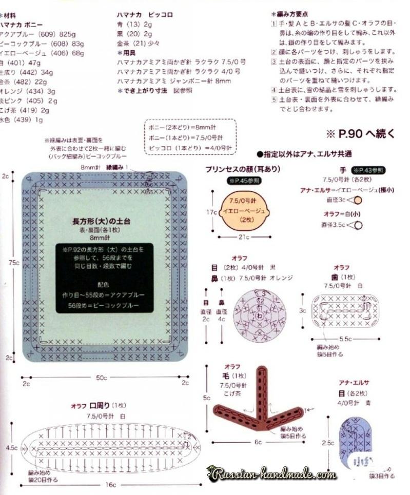 Схемы вязания детского коврика с аппликацией (2)