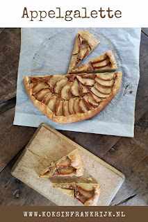 Makkelijk taartje met appel en amandel. Heerlijk gebak als dessert of bij de koffie.