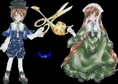 Render-Suiseiseki y Souseiseki-Rozen maiden (翠星石 蒼星石, ローゼン・メイデン)