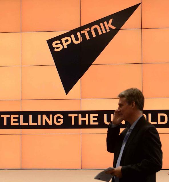 A agência oficial Sputnik é outra das peças chaves russas para embaralhar as informações no Ocidente