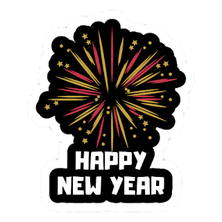 happy new year 2020 with black background