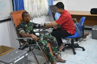 Donor Darah Yonif 611, Implementasi Bakti TNI Bagi Rakyat