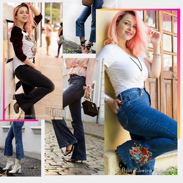 Looks com Calça Flare Jeans