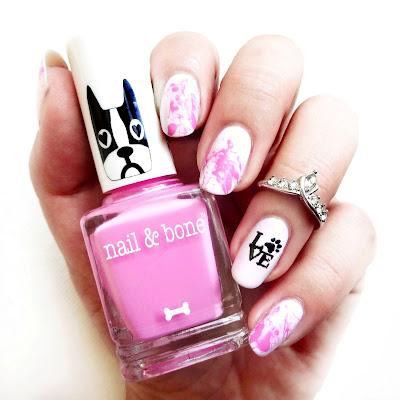 Pink Dog Love Nails