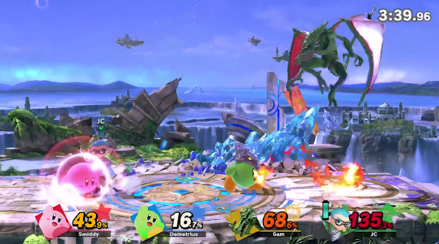Super Smash Bros. Ultimate Ridley Kirby hat power ability plasma fire balls