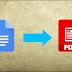 كيفية إنشاء PDF من وثيقة مستندات جوجل