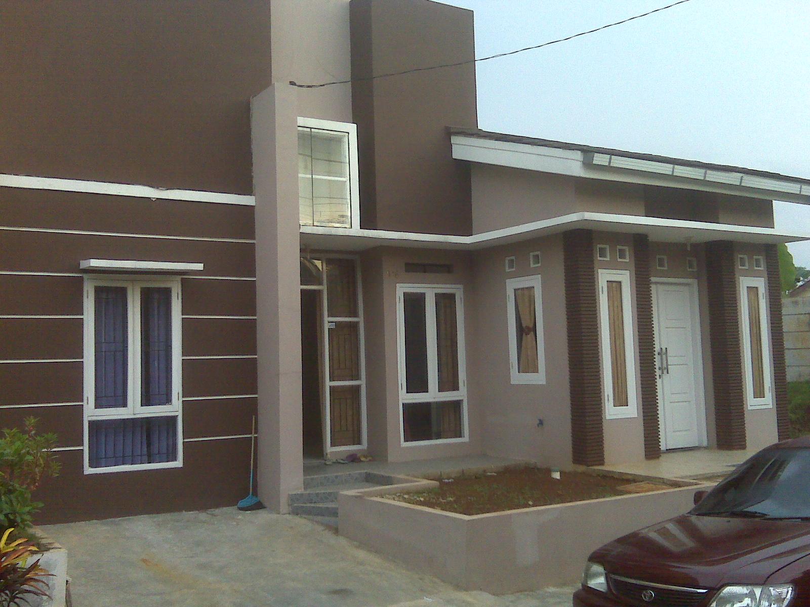 Cat Rumah Tampak Depan Warna Coklat | Top Rumah