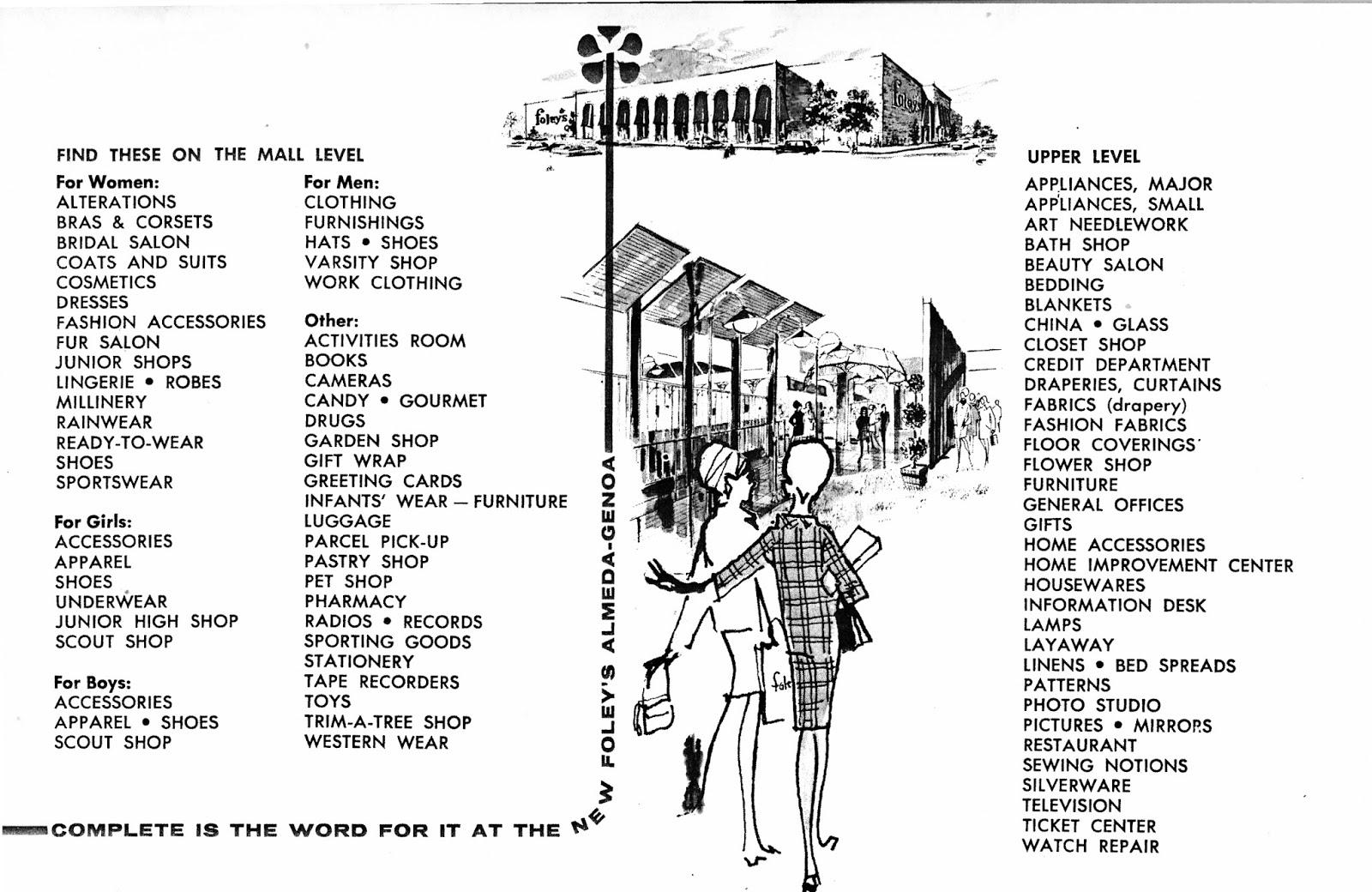 South Belt Houston Digital History Archive: UH Foley's