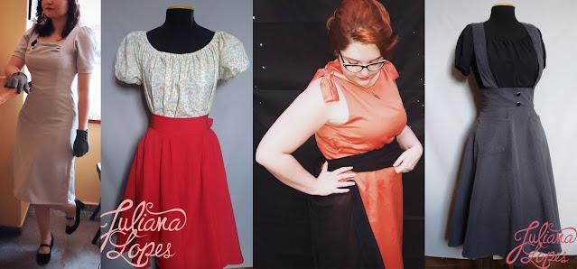 moda vintage e retrô sob encomenda