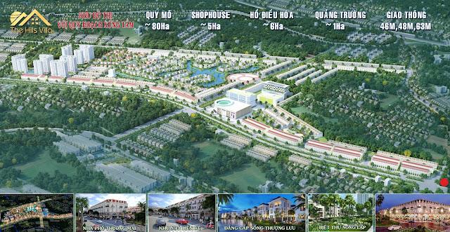 Phối cảnh tổng thể The Hills Villa Thái Nguyên