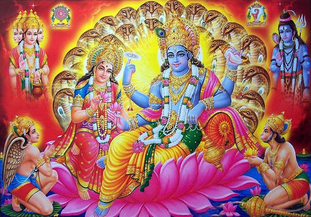 Lord Bramha Vishnu & Mahesh With Hanuman HD Wallpaper