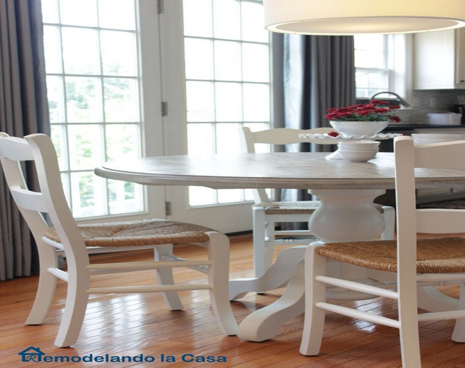Design kitchen table and chairs makeover