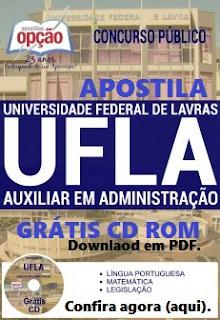 Apostila concurso UFLA Auxiliar de Administração.