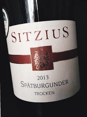 Spätburgunder aus dem Weingut Sitzius an der Nahe