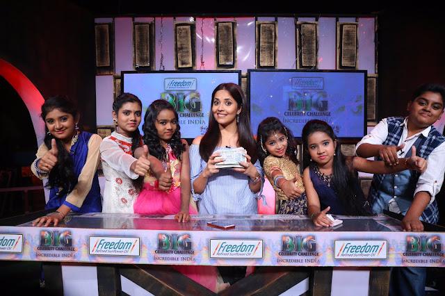 anasuya at Big Celebrity Challenge show with dramajuniors team