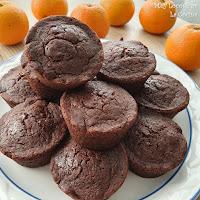 Muffins de Chocolate y Naranja (Sin Huevo y Sin Lactosa)