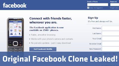 Original Facebook Clone