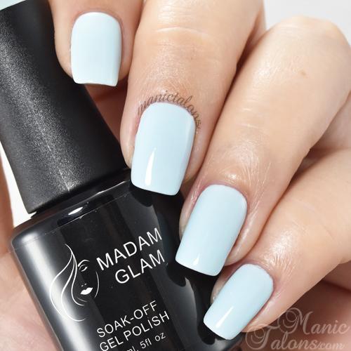 Madam Glam Gel Polish Amor Azul Swatch
