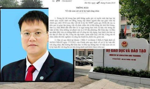 Vì sao quyết định kỷ luật 13 cán bộ cấp cao Bộ GD của Thứ trưởng Lê Hải An bị hủy bỏ?