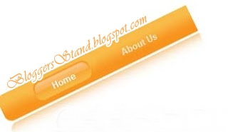 Add Glossy Style Yellow Colour CSS Navigation Menu Bar for blogger