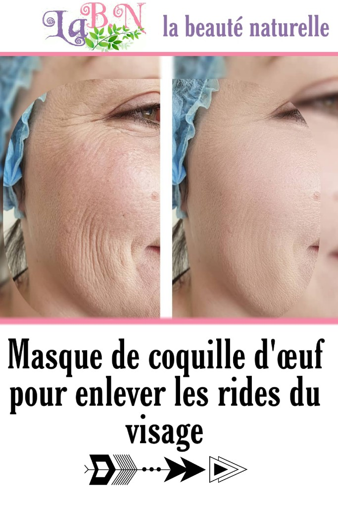 Masque de coquille d'œuf pour enlever les rides du visage